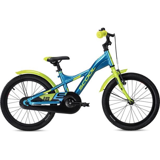 s'cool XXlite alloy 18 Enfant, bleu/vert