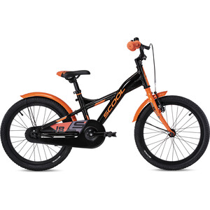 s'cool XXlite alloy 18 Kinder schwarz/orange schwarz/orange