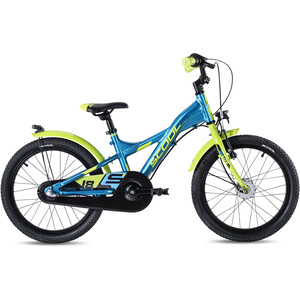 s'cool XXlite alloy street 18 3-S Kinder blau/gelb blau/gelb