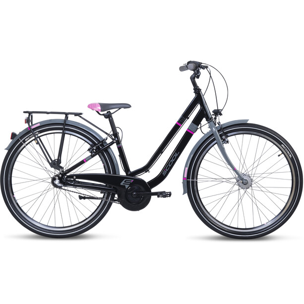 s'cool chiX twin alloy 26 3-S Kinder black/pink