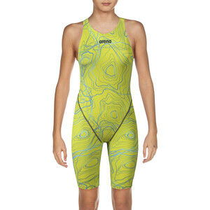 arena Powerskin ST 2.0 Full Body Short Leg Open Back LTD Edition 2019 Girls sonic lime sonic lime