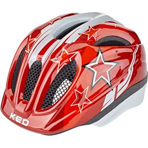 KED Meggy II Helm Kinder red stars red stars