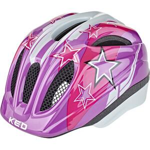 KED Meggy II Helm Kinder violet stars violet stars