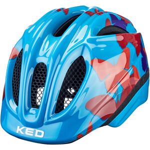 KED Meggy II Trend Helm Kinder butterfly/blue butterfly/blue