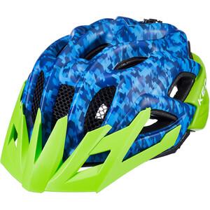 KED Status Helm Kinder camouflage blue/green camouflage blue/green