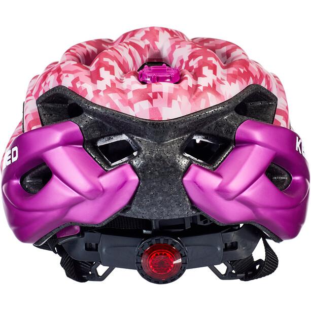 KED Status Helm Kinder camouflage pink/violet