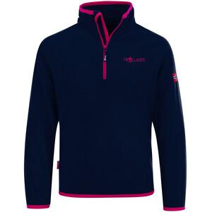TROLLKIDS Nordland Bluza z zamkiem błyskawicznym Dzieci, niebieski/różowy niebieski/różowy