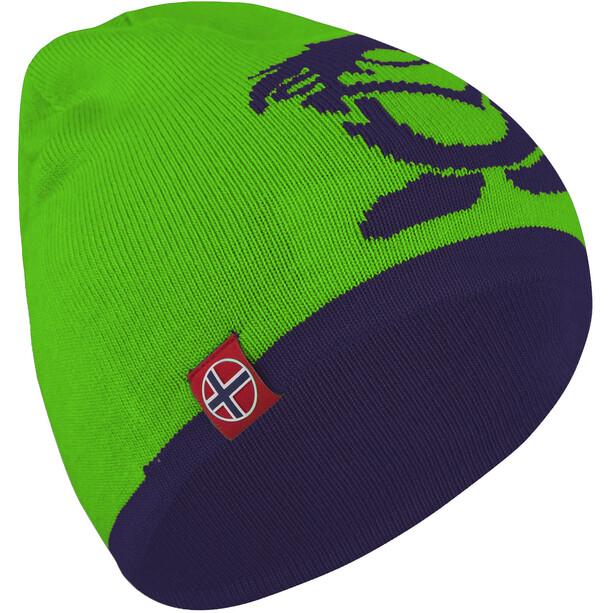 TROLLKIDS Troll Beanie Kinder navy/bright green