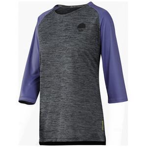 IXS Carve X Jersey Pyöräilypaita Naiset, harmaa/violetti harmaa/violetti