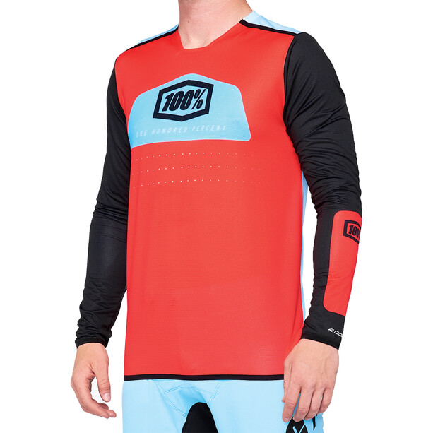 100% R-Core X DH Jersey Men fluor red/black