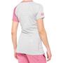 100% Airmatic Maillot de cyclisme Femme, gris/rose