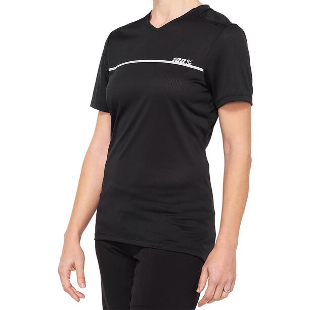 100% Ridecamp Maillot de cyclisme Femme, noir/gris