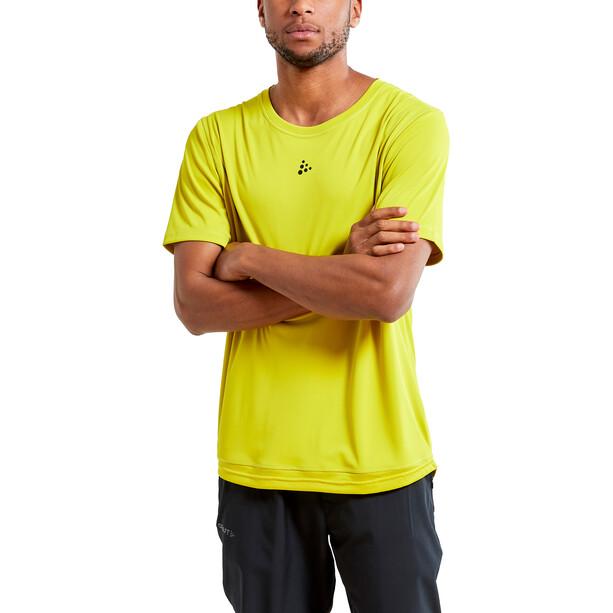 Craft Charge Kurzarm Mesh T-Shirt Herren gelb