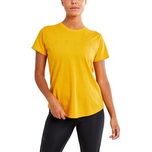 Craft Deft 2.0 Kurzarm T-Shirt Damen golden melange golden melange