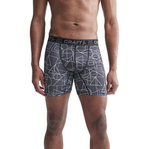"Craft Greatness 6"" Boxershorts Herren black/white black/white"