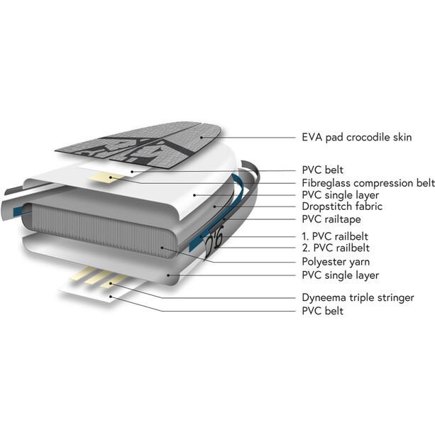 Indiana SUP 11'6 Touring Pack Premium Aufblasbares SUP Board mit 3-teiligem Carbon Paddel white/grey