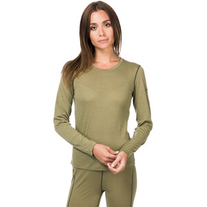 super.natural Base 140 Langarmshirt Damen bamboo/killer khaki bamboo/killer khaki