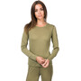 super.natural Base 140 Langarmshirt Damen bamboo/killer khaki