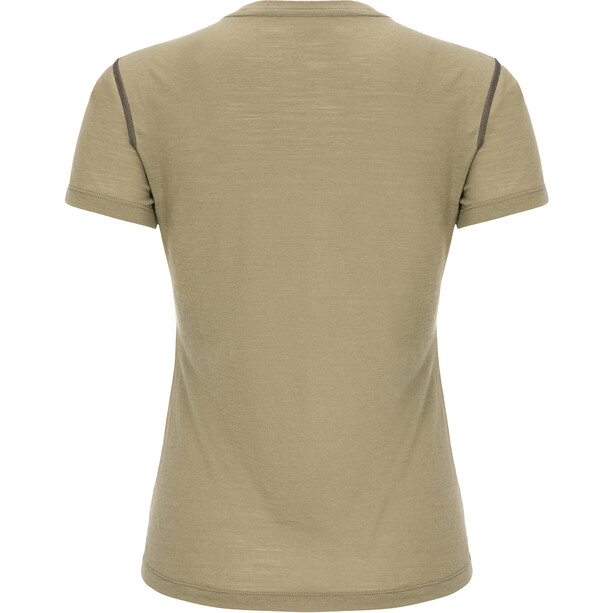 super.natural Base 140 T-Shirt Damen bamboo/killer khaki