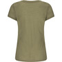 super.natural Base 140 V-Ausschnitt T-Shirt Damen bamboo/killer khaki