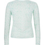 super.natural Base 140 Print Langarmshirt Damen fresh white/arabesque print