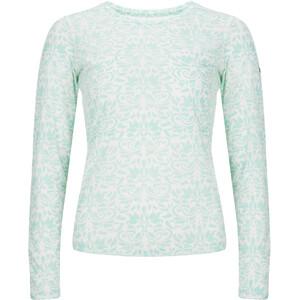 super.natural Base 140 Print Langarmshirt Damen fresh white/arabesque print fresh white/arabesque print
