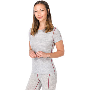 super.natural Base 175 T-Shirt Damen ash melange/pomegranate ash melange/pomegranate