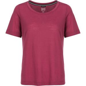 super.natural Essential Scoop T-Shirt Damen h10 anemone h10 anemone