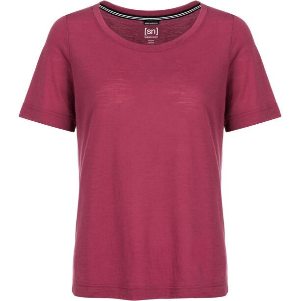 super.natural Essential Scoop T-Shirt Damen h10 anemone