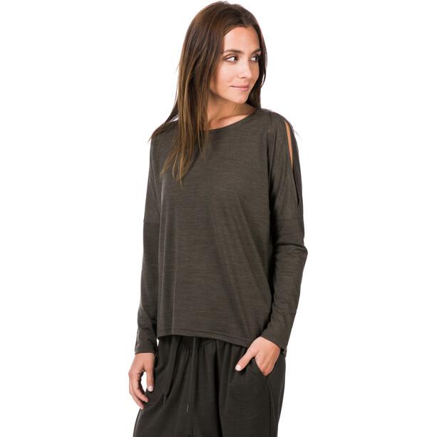 super.natural Jonser Langarmshirt Damen tandoori melange