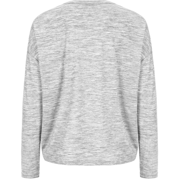 super.natural Yoga Loose Langarmshirt Damen ash melange