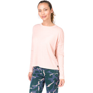 super.natural Yoga Loose Langarmshirt Damen blush blush