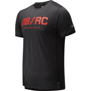 New Balance Printed Impact Run Kurzarmshirt Herren black/red black/red