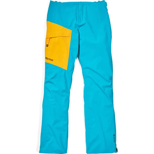 Marmot Huntley Pantalon Femme, turquoise/jaune