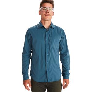 Marmot Runyon Langarm Shirt Herren denim denim