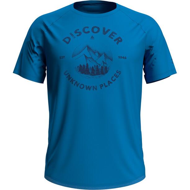 Odlo Concord T-shirt Col ras-du-cou Homme, bleu