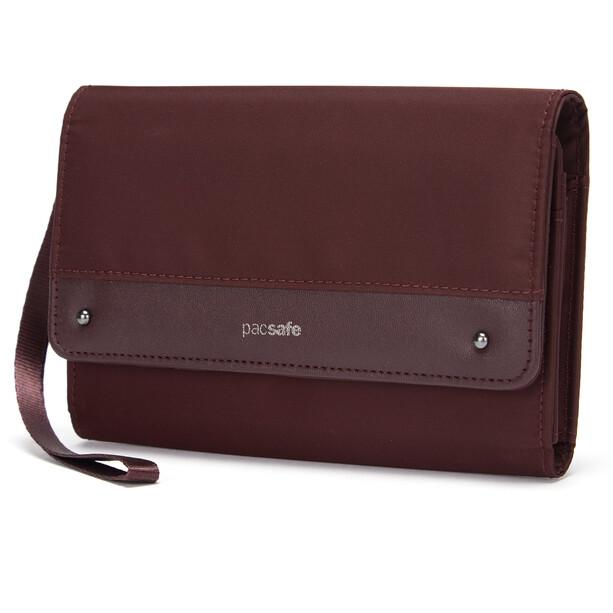 Pacsafe RFIDsafe Clutch Brieftasche merlot