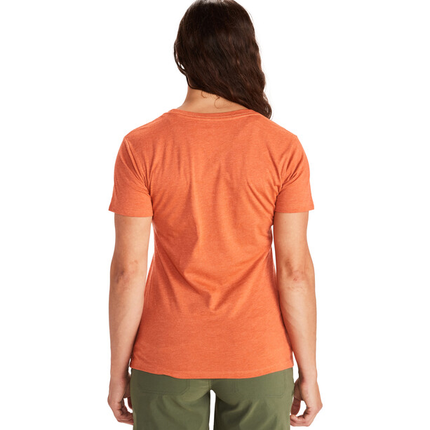 Marmot Woodblock SS Tee Women, oranssi