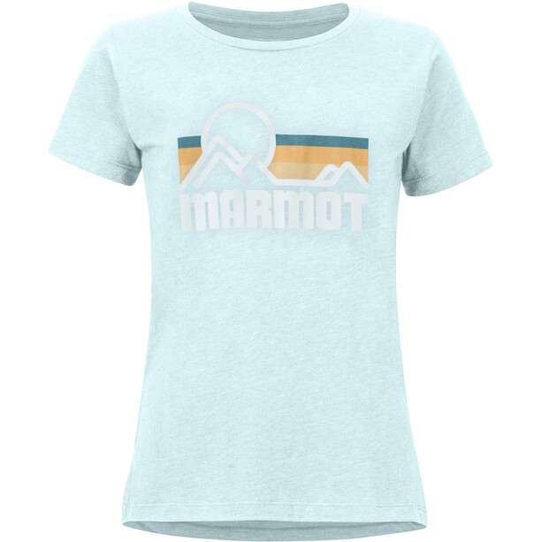 Marmot Coastal T-shirt Dames, blauw