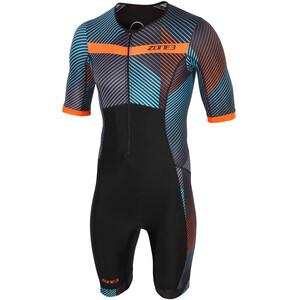 Zone3 Activate+ Kurzarm Trisuit Herren momentum/blue/grey/orange momentum/blue/grey/orange