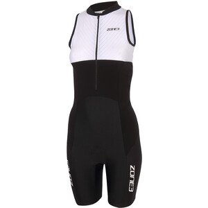 Zone3 Lava Long Distance Trisuit Damen black/white/green black/white/green