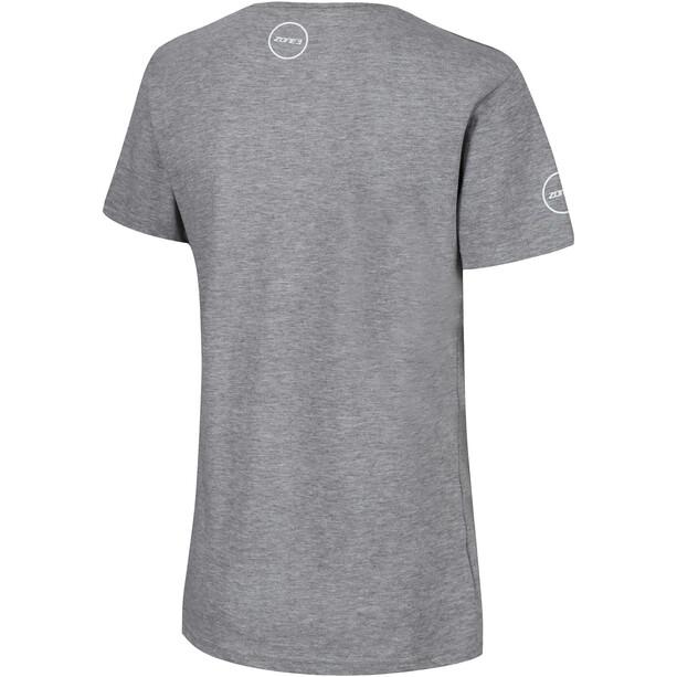 Zone3 Reaching New Limits T-Shirt Damen light grey
