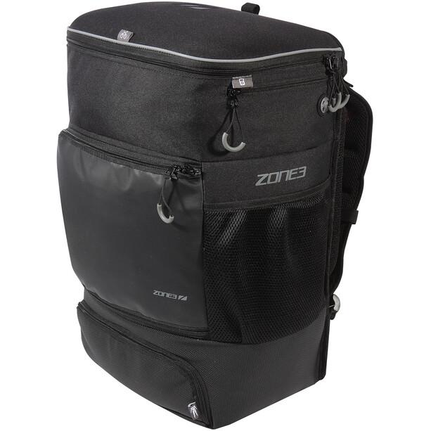 Zone3 Transition Rucksack mit EVA Fahrradhelm Fach black/grey