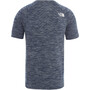 The North Face Impendor Seamless Tee Men, blue wing teal white heather