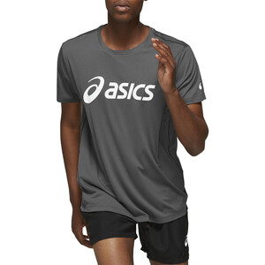 asics Silver Oberteil Herren dark grey / brilliant white dark grey / brilliant white