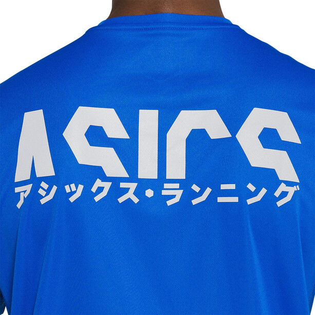 asics Katakana Maillot manches courtes zippé Homme, tuna blue