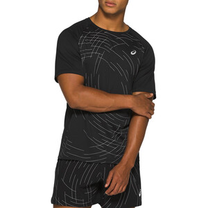 asics Night Track Kurzarmshirt Herren night track black aop night track black aop
