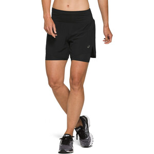 "asics Road 2-N-1 5,5"" Shorts Damen performance black performance black"
