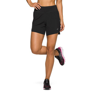 "asics Road 7"" Shorts Damen performance black performance black"