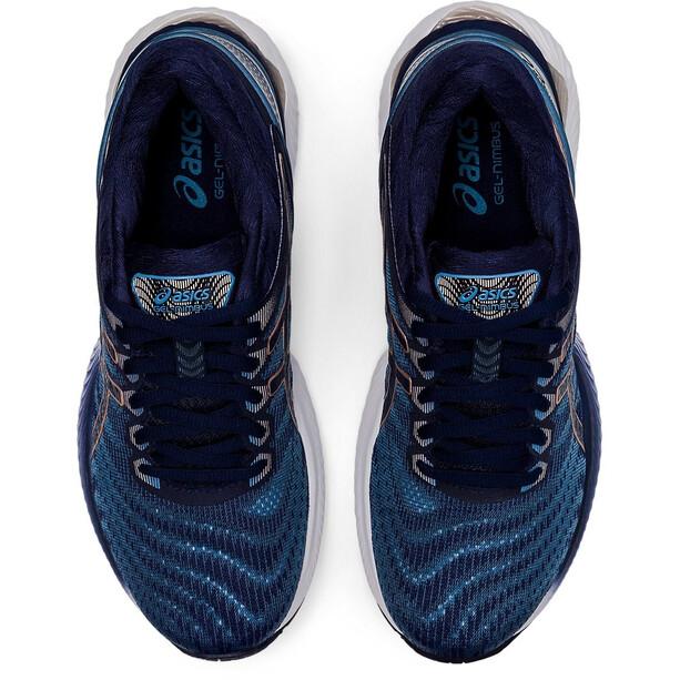 asics Gel-Nimbus 22 Shoes Women grey floss/peacoat